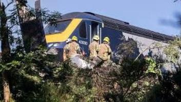 Kisiklott, majd kigyulladt egy vonat Skóciában - illusztráció