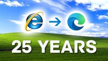 Az Internet Explorer 25 éve jelent meg - illusztráció