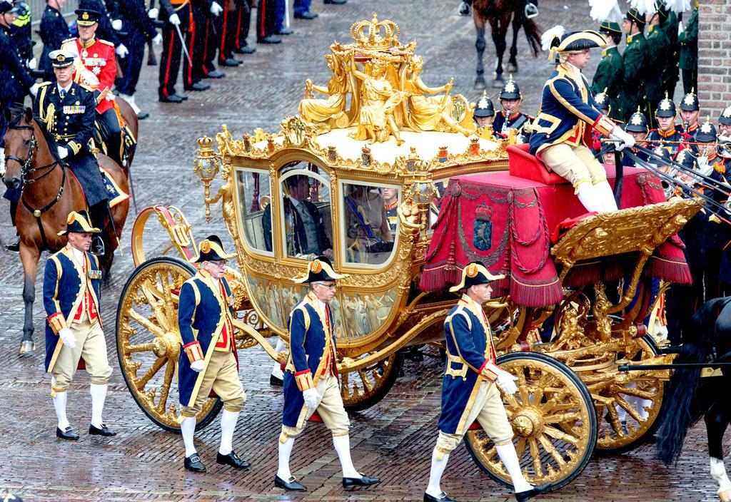 A holland királyi család aranyozott hintója