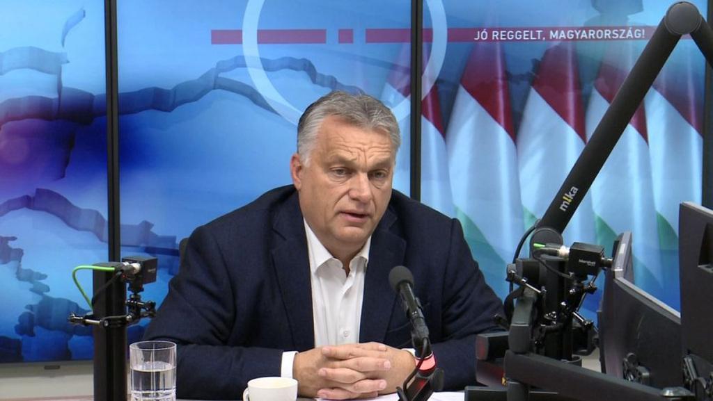 Orbán Viktor miniszterelnök a Kossuth rádió Jó reggelt, Magyarország! című műsorában (archív fotó)