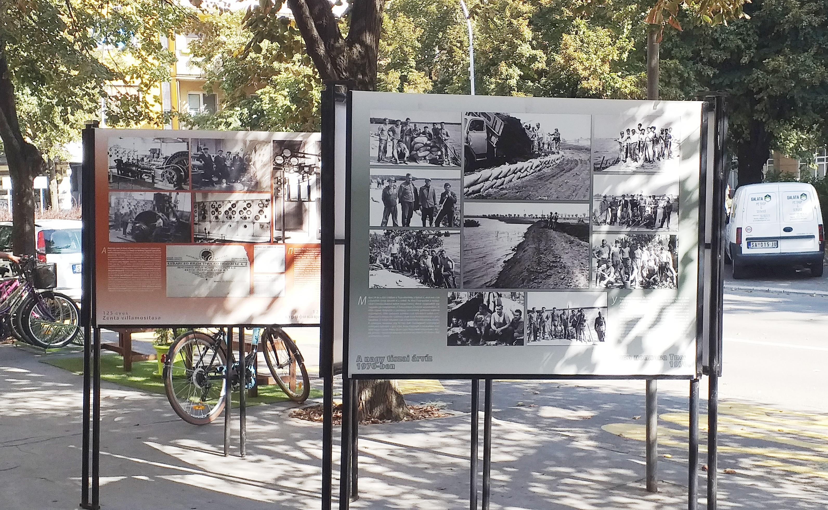 A kiállítás a város villamosításának, valamint a nagy tiszai árvíznek állít emléket