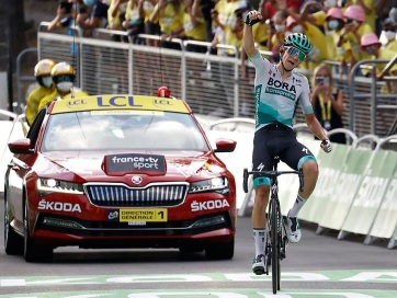 Tour de France: Lennard Kämna nyerte a 16. szakaszt - A cikkhez tartozó kép