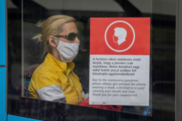 Budimpešta: Od danas se naplaćuju kazne za nenošenje zaštitne maske - A cikkhez tartozó kép