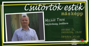 VM4K: Találkozás Molnár Tibor helytörténésszel, levéltárossal - A cikkhez tartozó kép