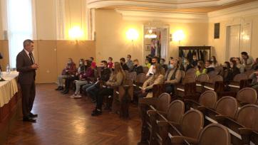Diákparlamentek tagjai találkoztak Magyarkanizsán - A cikkhez tartozó kép