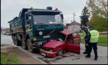 Súlyos közlekedési baleset Nagykikindán - A cikkhez tartozó kép