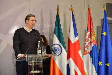 Megérkezett Szerbiába az AstraZeneca védőoltás első 150 ezer adagja - A cikkhez tartozó kép