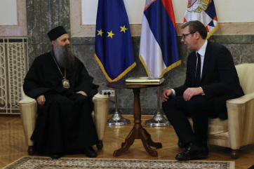 Vučić és Porfirije az államot és az egyházat érintő fontos kérdésekről - A cikkhez tartozó kép