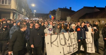 Erőszakos bukaresti tüntetés: Kifelé a magyarokkal! - A cikkhez tartozó kép