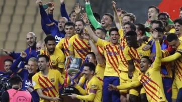 Labdarúgás: A Barcelona kiütéssel nyerte a Spanyol Kupát - A cikkhez tartozó kép