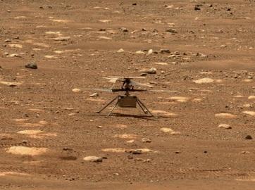 Történelmi pillanat – először repült ember alkotta szerkezet egy másik bolygón! - A cikkhez tartozó kép