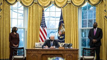 100 napja iktatták be hivatalába Joe Biden amerikai elnököt - A cikkhez tartozó kép