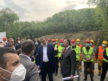 Megkezdődött a Tarcal-hegyi közlekedési folyosó építése - A cikkhez tartozó kép