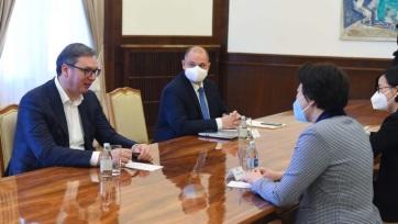 Vučić a kínai nagykövettel: Kiváló a két ország közötti együttműködés - A cikkhez tartozó kép
