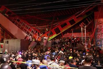 Leszakadt egy metrófelüljáró Mexikóvárosban, legalább 20 ember meghalt - A cikkhez tartozó kép