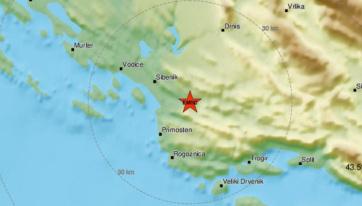 Földrengés volt Šibenik térségében - A cikkhez tartozó kép