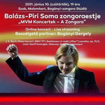 Balázs-Piri Soma online koncertjével folytatódik az MVM Koncertek zongorasorozata - A cikkhez tartozó kép