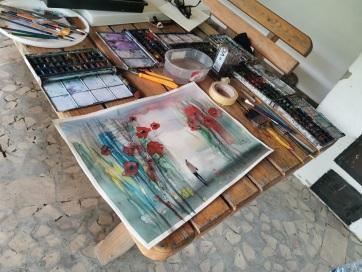 Megnyílt Bácskossuthfalván a 9+1 Művésztelep Alkotótábora - A cikkhez tartozó kép