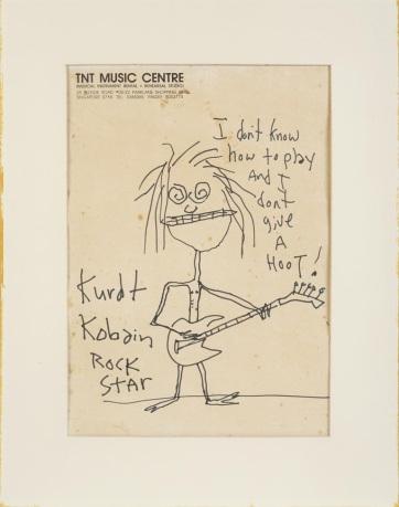 A becsült ár 28-szorosáért kelt el Kurt Cobain egy karikatúrája - A cikkhez tartozó kép