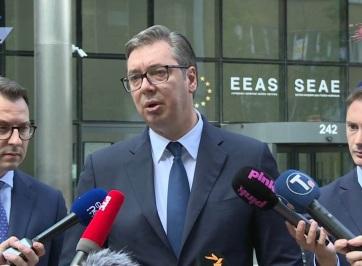 Vučić: Koszovó népirtással vádolta Szerbiát a brüsszeli találkozón - A cikkhez tartozó kép