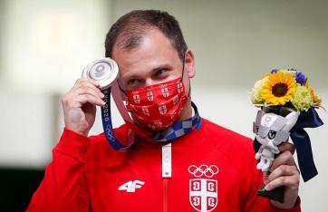 Tokió 2020: Damir Mikec ezüstérmes sportlövészetben - A cikkhez tartozó kép