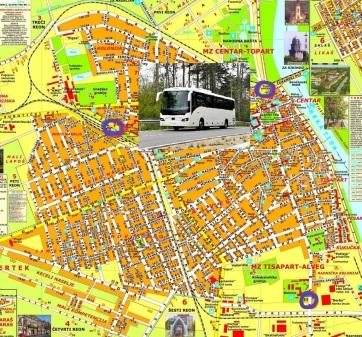 Közlemény a Zenta községben közlekedő diákbuszok megállóiról - A cikkhez tartozó kép