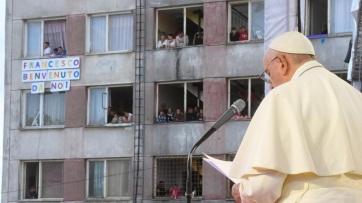 Ferenc pápa az előítéletek elhagyásának fontosságáról beszélt Kassán - A cikkhez tartozó kép