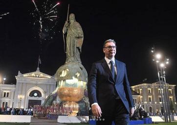 Belgrádi központi ünnepség: A szerbek két eszményüket ünneplik, az egységet és a szabadságot - A cikkhez tartozó kép