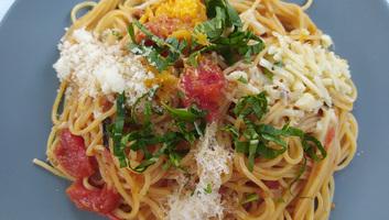 Négysajtos spagetti - illusztráció