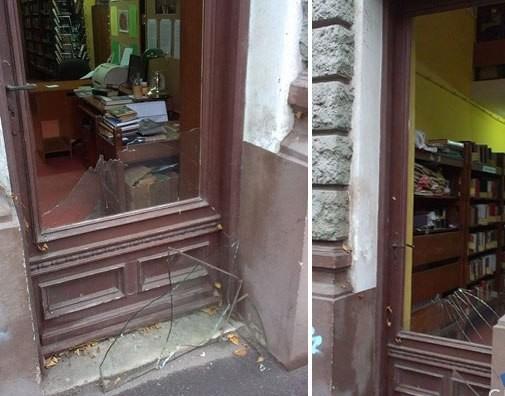 Az éjjel betörték a szabadkai Városi Könyvtár ablakát