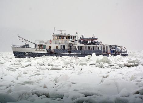 Belgrád térségébe vezényeltek át két magyar jégtörőt