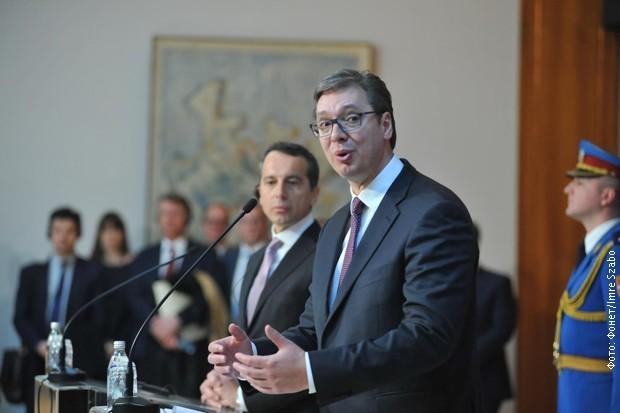 Főleg gazdasági és migrációs kérdésekről tárgyalt az osztrák kancellár Belgrádban