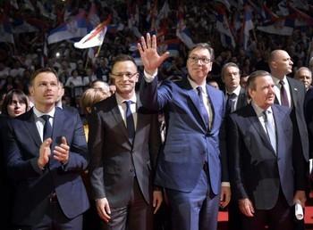Mađarski ministar u Vučićevoj kampanji