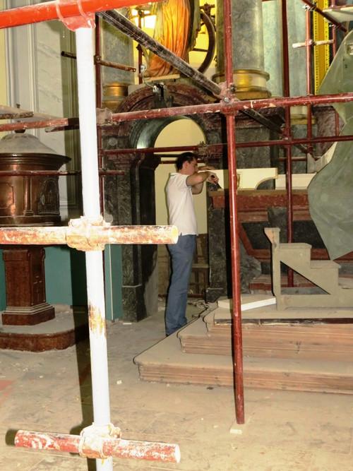 A hónap végén kikerülnek az állványok a regőcei templomból