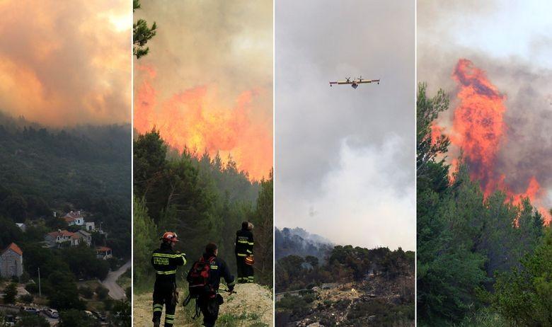 Továbbra is erdőtűz pusztít a horvát tengerparton