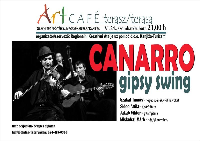 Canarro Gipsy Swing a magyarkanizsai Art Caféban