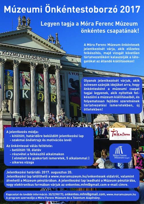 Önkénteseket toboroz a szegedi Móra Ferenc Múzeum