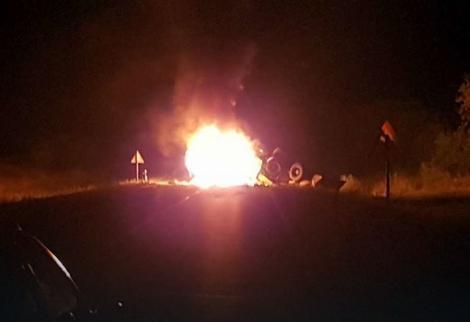 Terepjáró ütközött erőgéppel Pancsova közelében, hárman bennégtek a személyjárműben