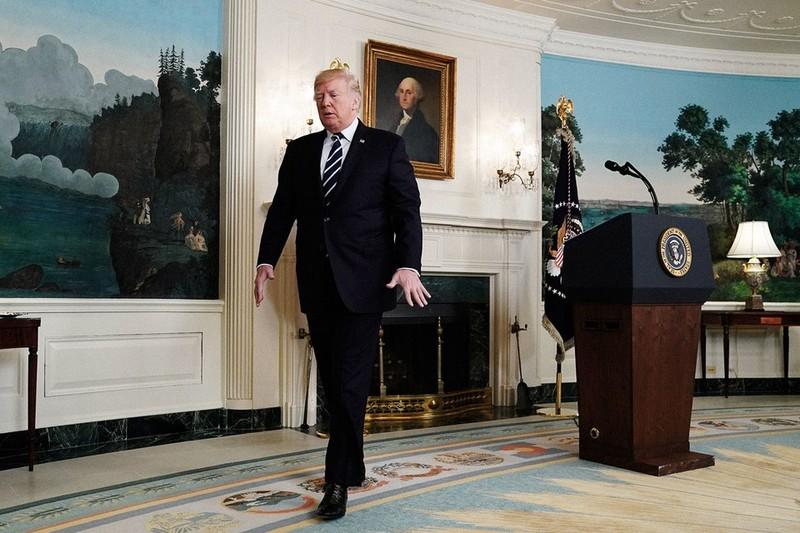 Donald Trump  a Fehér Házban.