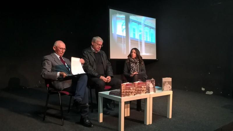 A kettős könyvbemutatón: Balázs József, Németh Ferenc és Szilágyi Mária