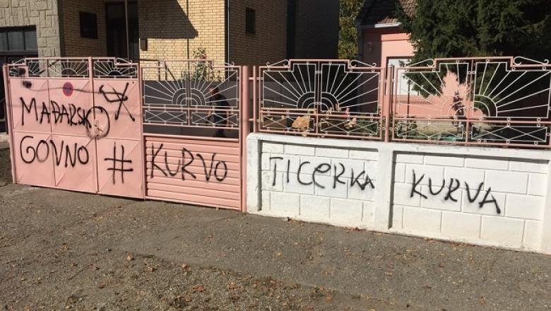 A tartományi kormány és a VMSZ elítéli a nagybecskereki gyülöletkeltő falfirkákat