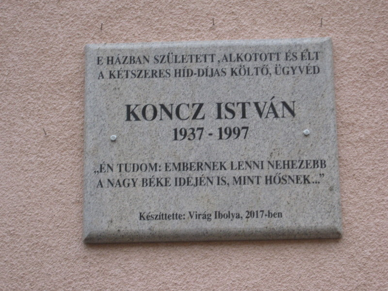 Magyarkanizsa: Emléktáblát avattak Koncz István szülőházán