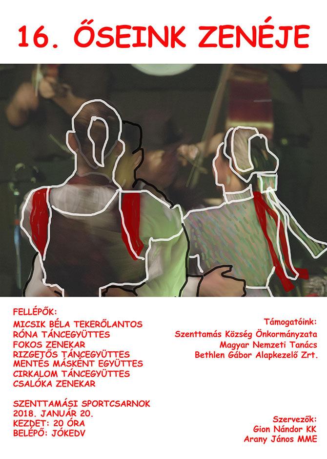 Szenttamás: Január 20-án tartják az Őseink zenéje népzenei rendezvényt