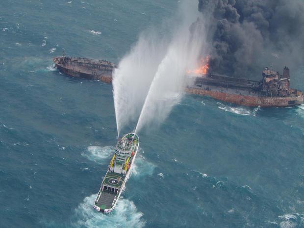 Elsüllyedt iránti tartályhajó: Környezeti katasztrófa fenyeget